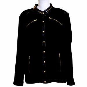 Linea by Louis Dell'olio Black Military Jacket